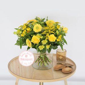 Boeket Inge geel bloemetje