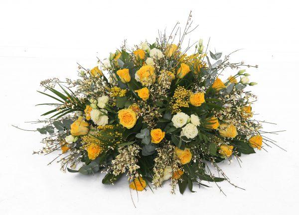 Grafstuk geel bloemetje Zeist klein